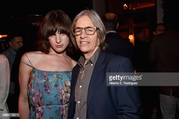Actress Hari Nef and Poet/writer Eileen Myles attend the after party for the Premiere Of Amazon's 'Transparent' Season 2 at SilverScreen Theater at...