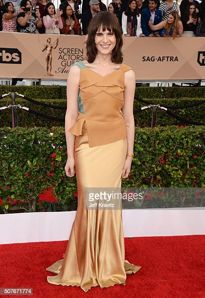 Actress Hari Nef attends the 22nd Annual Screen Actors Guild Awards at The Shrine Auditorium on January 30 2016 in Los Angeles California