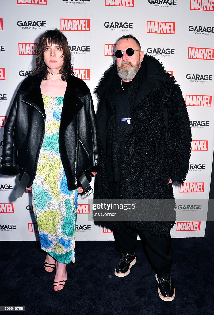 Actress <a gi-track='captionPersonalityLinkClicked' href=/galleries/search?phrase=Hari+Nef&family=editorial&specificpeople=13930762 ng-click='$event.stopPropagation()'>Hari Nef</a> (L) attends the Marvel and Garage Magazine New York Fashion Week Event on February 11, 2016 in New York City.