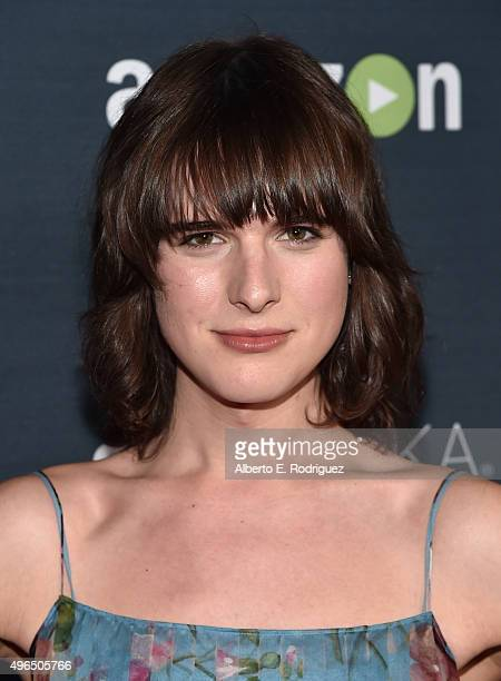 Actress Hari Nef attends the Premiere Of Amazon's 'Transparent' Season 2 at SilverScreen Theater at the Pacific Design Center on November 9 2015 in...