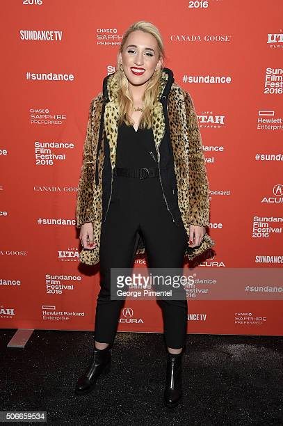 Actress Harley Quinn Smith attends the 'Yoga Hosers' Premiere during the 2016 Sundance Film Festival at Library Center Theater on January 24 2016 in...