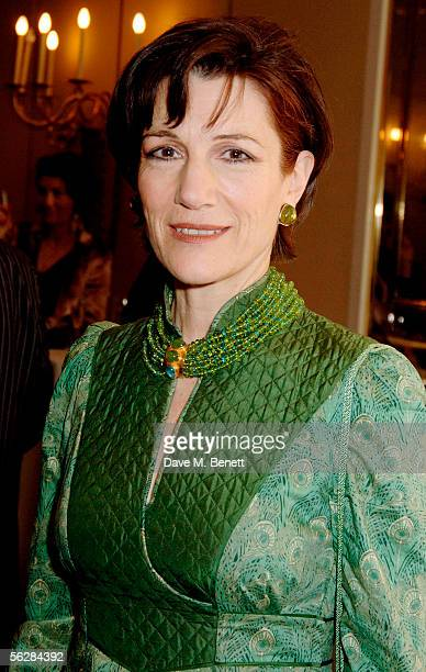 Actress Harriet Walter attends the reception for the Evening Standard Theatre Awards the annual theatrical awards hosted by the London newspaper at...