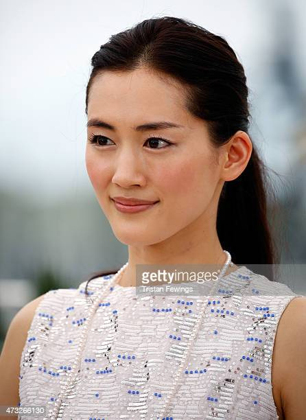 Actress Haruka Ayase attends a photocall for 'Umimachi Diary' during the 68th annual Cannes Film Festival on May 14 2015 in Cannes France
