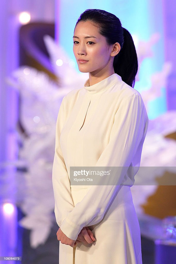 Actress <a gi-track='captionPersonalityLinkClicked' href=/galleries/search?phrase=Haruka+Ayase&family=editorial&specificpeople=4451163 ng-click='$event.stopPropagation()'>Haruka Ayase</a> attends the 34th Japan Academy Awards at Grand Prince Hotel New Takanawa on February 18, 2011 in Tokyo, Japan.