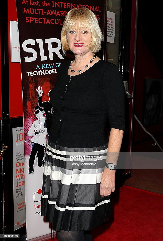 Actress Hattie Hayridge attends the press night for Siro-A show, described as Japan's version of the Blue Man Group at Leicester Square Theatre on February 4, 2013 in London, England.