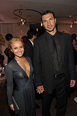 Actress Hayden Panettiere and boxer Wladimir Klitschko attend the InStyle and Warner Bros 68th annual Golden Globe awards postparty at The Beverly...