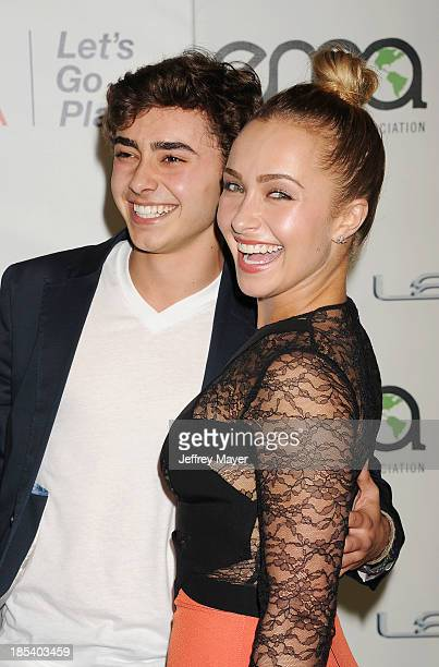 Actress Hayden Panettiere and brother Jansen Panettiere arrive at the 2013 Environmental Media Awards at Warner Bros Studios on October 19 2013 in...