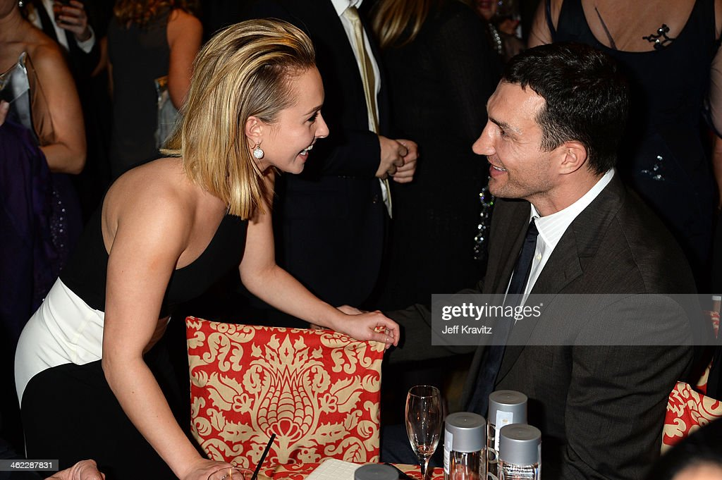 Actress Hayden Panettiere (L) and professional boxer Wladimir Klitschko attend HBO's Official Golden Globe Awards After Party at The Beverly Hilton Hotel on January 12, 2014 in Beverly Hills, California.