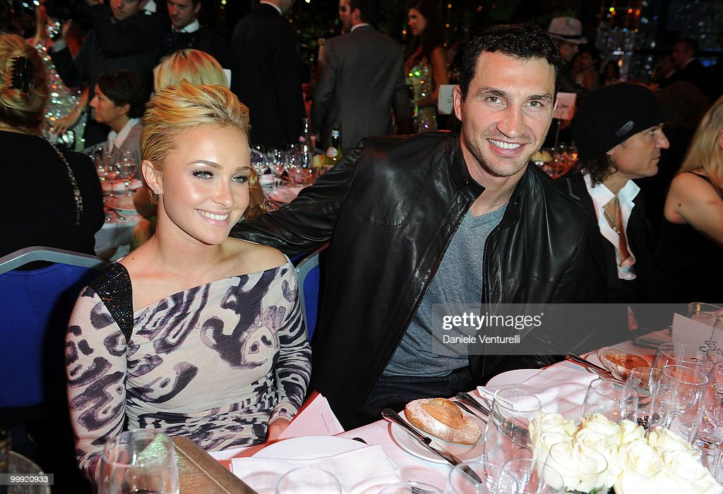 Actress Hayden Panettiere (L) and Wladimir Klitschko attend the World Music Awards 2010 at the Sporting Club on May 18, 2010 in Monte Carlo, Monaco.