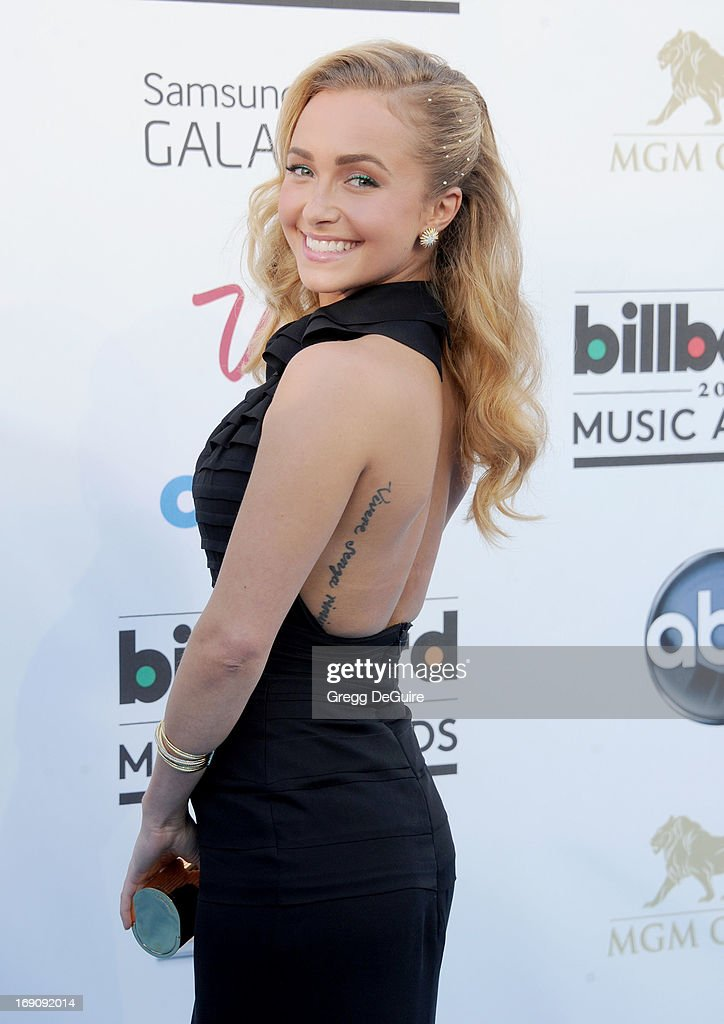 Actress <a gi-track='captionPersonalityLinkClicked' href=/galleries/search?phrase=Hayden+Panettiere&family=editorial&specificpeople=204227 ng-click='$event.stopPropagation()'>Hayden Panettiere</a> arrives at the 2013 Billboard Music Awards at MGM Grand Garden Arena on May 19, 2013 in Las Vegas, Nevada.