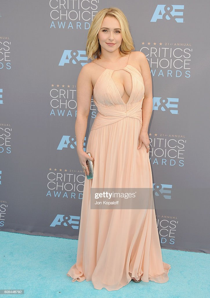 Actress <a gi-track='captionPersonalityLinkClicked' href=/galleries/search?phrase=Hayden+Panettiere&family=editorial&specificpeople=204227 ng-click='$event.stopPropagation()'>Hayden Panettiere</a> arrives at The 21st Annual Critics' Choice Awards at Barker Hangar on January 17, 2016 in Santa Monica, California.