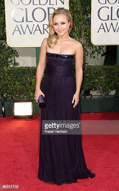 Actress Hayden Panettiere arrives at the 66th Annual Golden Globe Awards held at the Beverly Hilton Hotel on January 11 2009 in Beverly Hills...