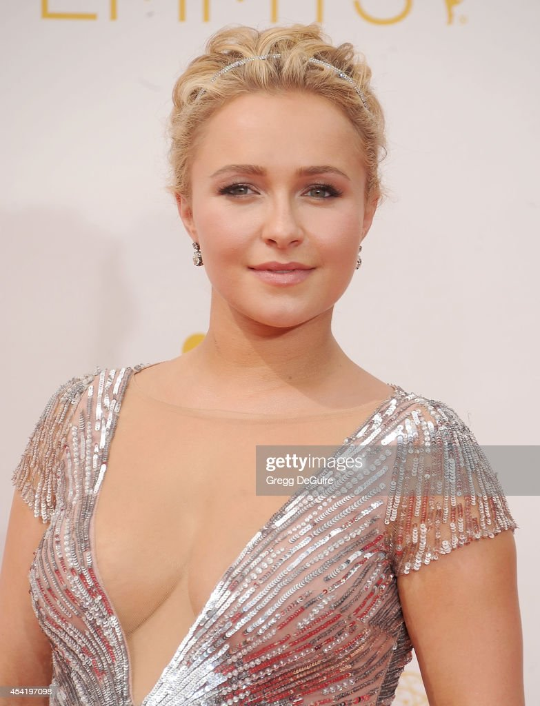 Actress <a gi-track='captionPersonalityLinkClicked' href=/galleries/search?phrase=Hayden+Panettiere&family=editorial&specificpeople=204227 ng-click='$event.stopPropagation()'>Hayden Panettiere</a> arrives at the 66th Annual Primetime Emmy Awards at Nokia Theatre L.A. Live on August 25, 2014 in Los Angeles, California.