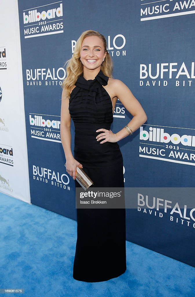Actress <a gi-track='captionPersonalityLinkClicked' href=/galleries/search?phrase=Hayden+Panettiere&family=editorial&specificpeople=204227 ng-click='$event.stopPropagation()'>Hayden Panettiere</a> arrives at the Buffalo David Bitton red carpet at the 2013 Billboard Music Awards at the MGM Grand Garden Arena on May 19, 2013 in Las Vegas, Nevada.