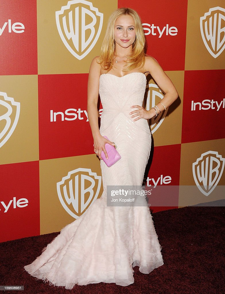 Actress Hayden Panettiere arrives at the InStyle And Warner Bros. Golden Globe Party at The Beverly Hilton Hotel on January 13, 2013 in Beverly Hills, California.