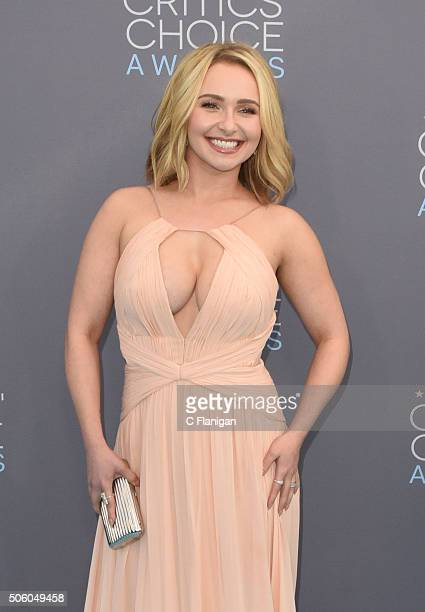 Actress Hayden Panettiere arrives at the The 21st Annual Critics' Choice Awards at Barker Hangar on January 17 2016 in Santa Monica California