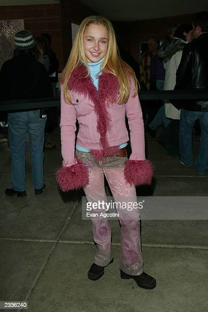 Actress Hayden Panettiere arriving at the 'Normal' screening during the 2003 Sundance Film Festival in Park City Utah January 21 2003 Photo by Evan...