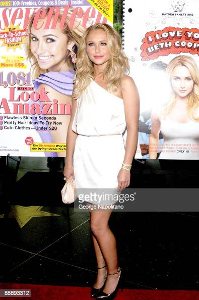 Actress Hayden Panettiere attends a screening of 'I Love You Beth Cooper' hosted by Seventeen magazine at AMC Lincoln Square on July 7 2009 in New...