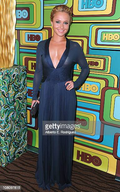 Actress Hayden Panettiere attends HBO's Post 2011 Golden Globe Awards Party held at The Beverly Hilton hotel on January 16 2011 in Beverly Hills...