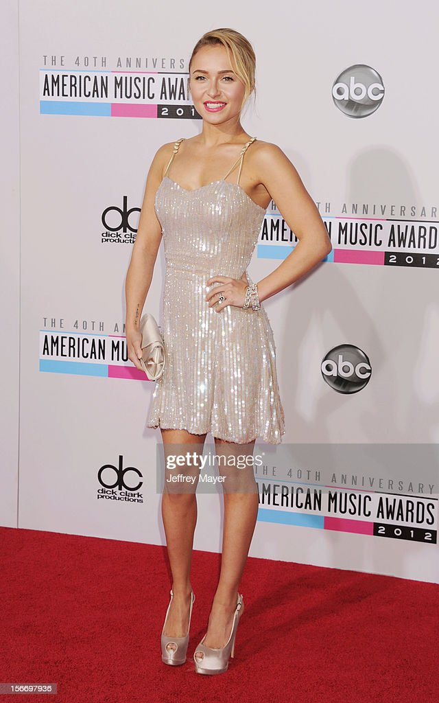 Actress Hayden Panettiere attends the 40th Anniversary American Music Awards held at Nokia Theatre L.A. Live on November 18, 2012 in Los Angeles, California.