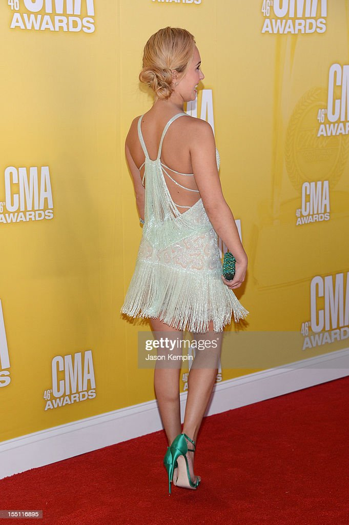 Actress Hayden Panettiere attends the 46th annual CMA Awards at the Bridgestone Arena on November 1, 2012 in Nashville, Tennessee.