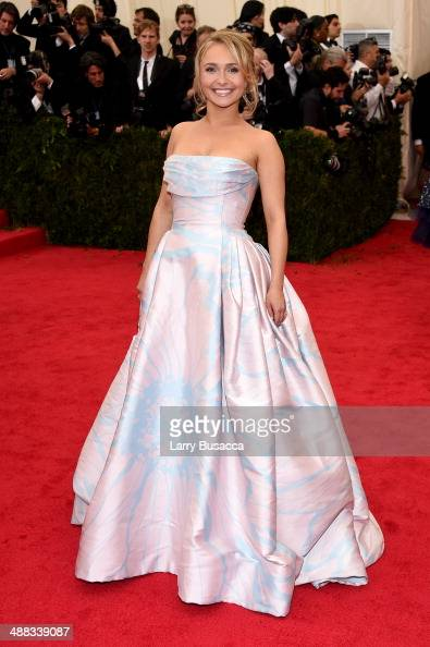 Actress Hayden Panettiere attends the 'Charles James Beyond Fashion' Costume Institute Gala at the Metropolitan Museum of Art on May 5 2014 in New...