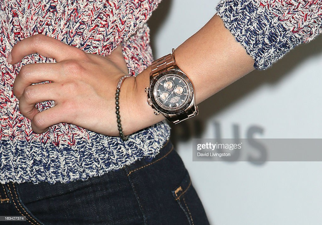 Actress Hayden Panettiere (watch & bracelet detail) attends The Paley Center For Media's PaleyFest 2013 honoring 'Nashville' at the Saban Theatre on March 9, 2013 in Beverly Hills, California.