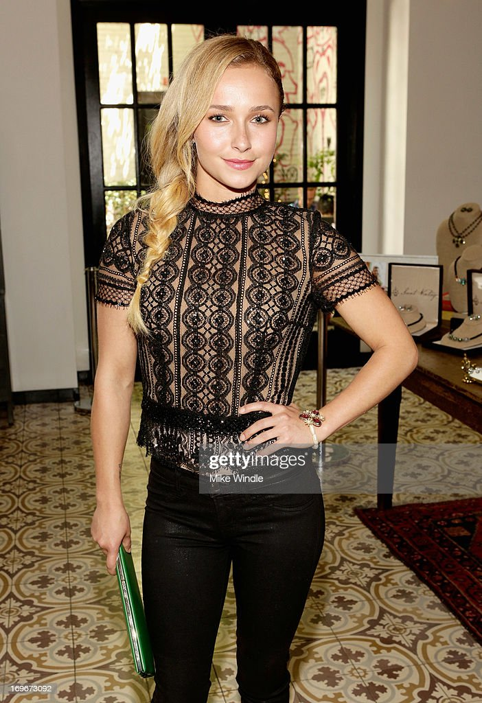 Actress <a gi-track='captionPersonalityLinkClicked' href=/galleries/search?phrase=Hayden+Panettiere&family=editorial&specificpeople=204227 ng-click='$event.stopPropagation()'>Hayden Panettiere</a> attends the Variety Emmy Studio at Palihouse on May 30, 2013 in West Hollywood, California.