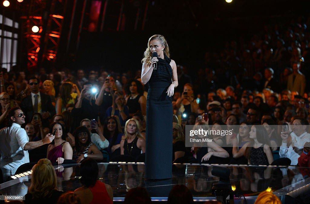 Actress Hayden Panettiere speaks onstage during the 2013 Billboard Music Awards at the MGM Grand Garden Arena on May 19, 2013 in Las Vegas, Nevada.