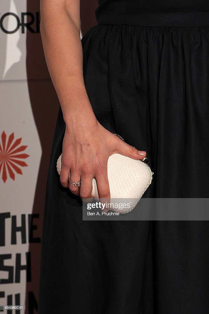 Actress Hayley Atwell (detail) arrives on the red carpet for the Moet British Independent Film Awards at Old Billingsgate Market on December 8, 2013 in London, England.
