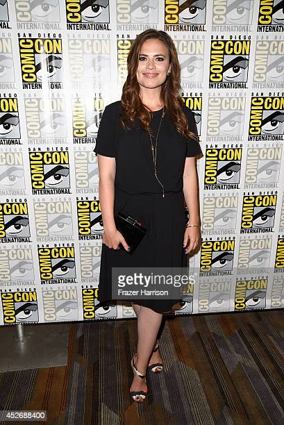 Actress Hayley Atwell attends 'Marvel's Agents Of SHIELD' 'Marvel's Agent Carter' during ComicCon International 2014 at Hilton Bayfront on July 25...