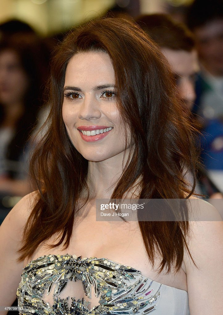 Actress Hayley Atwell attends the 'Captain America: The Winter Soldier' UK film premiere at Westfield on March 20, 2014 in London, England.