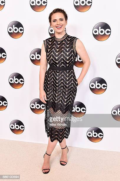 Actress Hayley Atwell attends the Disney ABC Television Group TCA Summer Press Tour on August 4 2016 in Beverly Hills California