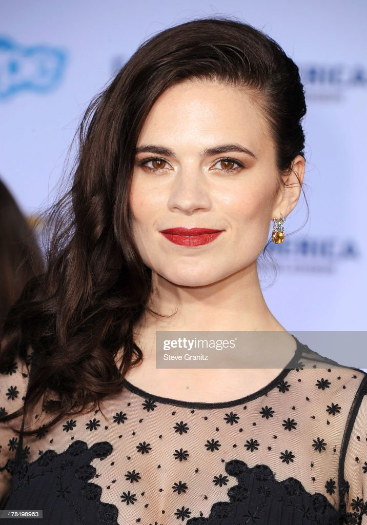 Actress Hayley Atwell attends the premiere of 'Captain America: The Winter Soldier' at the El Capitan Theatre on March 13, 2014 in Hollywood, California.