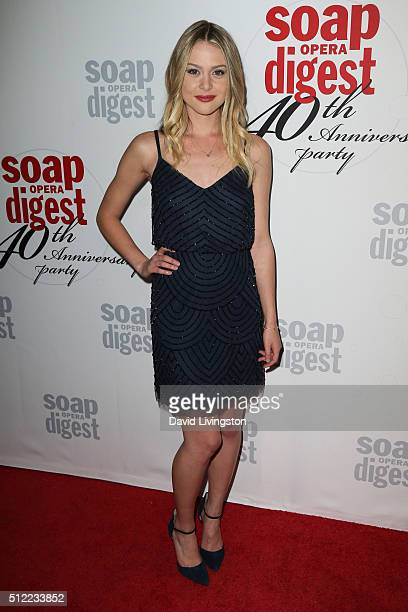 Actress Hayley Erin arrives at the 40th Anniversary of the Soap Opera Digest at The Argyle on February 24 2016 in Hollywood California