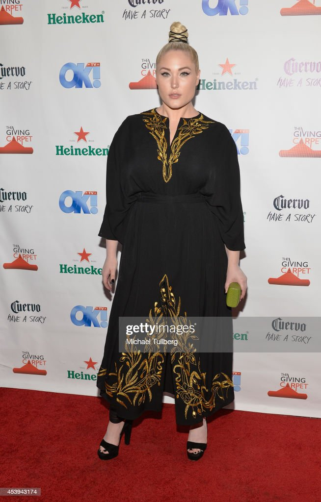 Actress <a gi-track='captionPersonalityLinkClicked' href=/galleries/search?phrase=Hayley+Hasselhoff&family=editorial&specificpeople=2143973 ng-click='$event.stopPropagation()'>Hayley Hasselhoff</a> attends the OK! TV Awards Party at Sofitel Hotel on August 21, 2014 in Los Angeles, California.