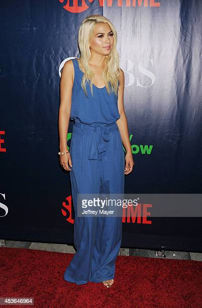 Actress Hayley Kiyoko arrives at the CBS CW And Showtime 2015 Summer TCA Party at Pacific Design Center on August 10 2015 in West Hollywood California