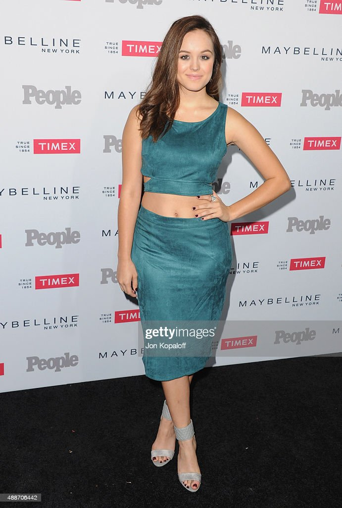 Actress Hayley Orrantia arrives at People's 'Ones To Watch' Event at Ysabel on September 16, 2015 in West Hollywood, California.