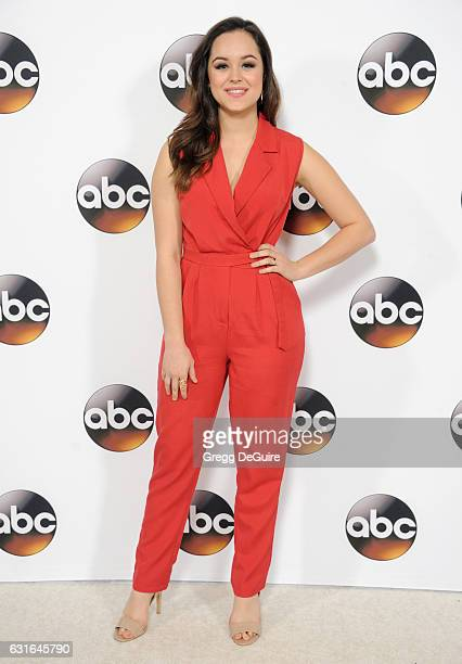 Actress Hayley Orrantia arrives at the 2017 Winter TCA Tour Disney/ABC at the Langham Hotel on January 10 2017 in Pasadena California