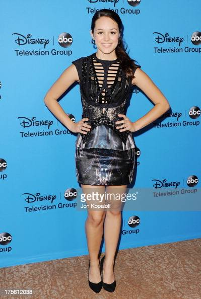 Actress Hayley Orrantia arrives at the Disney/ABC Party 2013 Television Critics Association's Summer Press Tour at The Beverly Hilton Hotel on August...