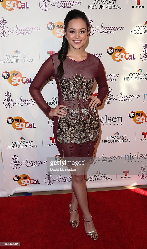 Actress <a gi-track='captionPersonalityLinkClicked' href=/galleries/search?phrase=Hayley+Orrantia&family=editorial&specificpeople=8654268 ng-click='$event.stopPropagation()'>Hayley Orrantia</a> attends the 29th Annual Imagen Awards at the Beverly Hilton Hotel on August 1, 2014 in Beverly Hills, California.