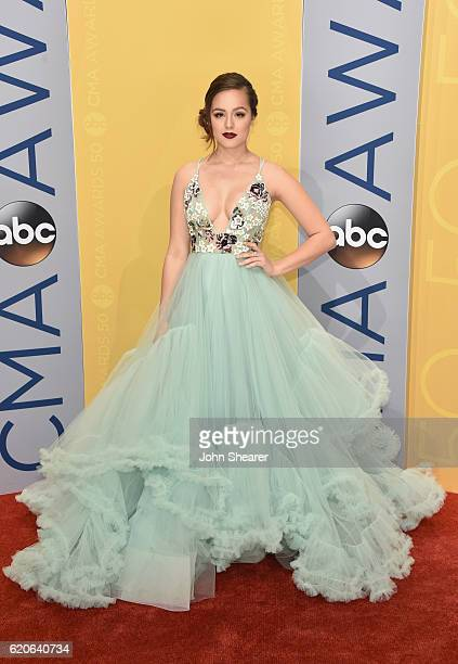 Actress Hayley Orrantia attends the 50th annual CMA Awards at the Bridgestone Arena on November 2 2016 in Nashville Tennessee