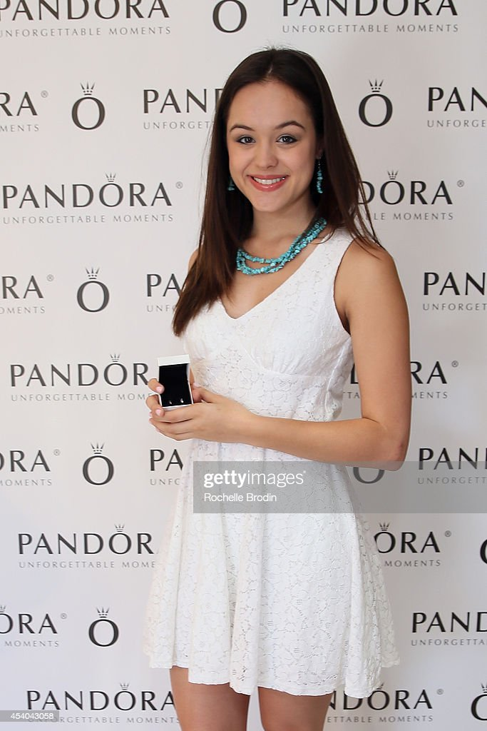 Actress Hayley Orrantia attends the HBO Luxury Lounge featuring PANDORA at Four Seasons Hotel Los Angeles at Beverly Hills on August 23, 2014 in Beverly Hills, California.