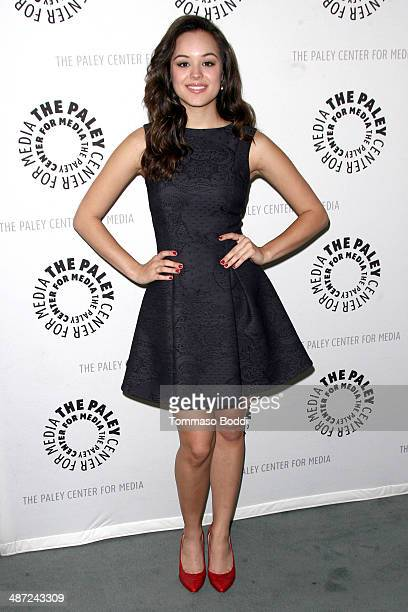 Actress Hayley Orrantia attends the Paley Center for Media presents 'The Goldbergs Your TV Trip To The 1980s' held at The Paley Center for Media on...