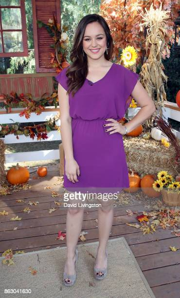 Actress Hayley Orrantia visits Hallmark's 'Home Family' at Universal Studios Hollywood on October 18 2017 in Universal City California