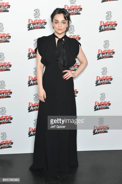 Actress Hayley Squires poses in the winners room at the THREE Empire awards at The Roundhouse on March 19 2017 in London England
