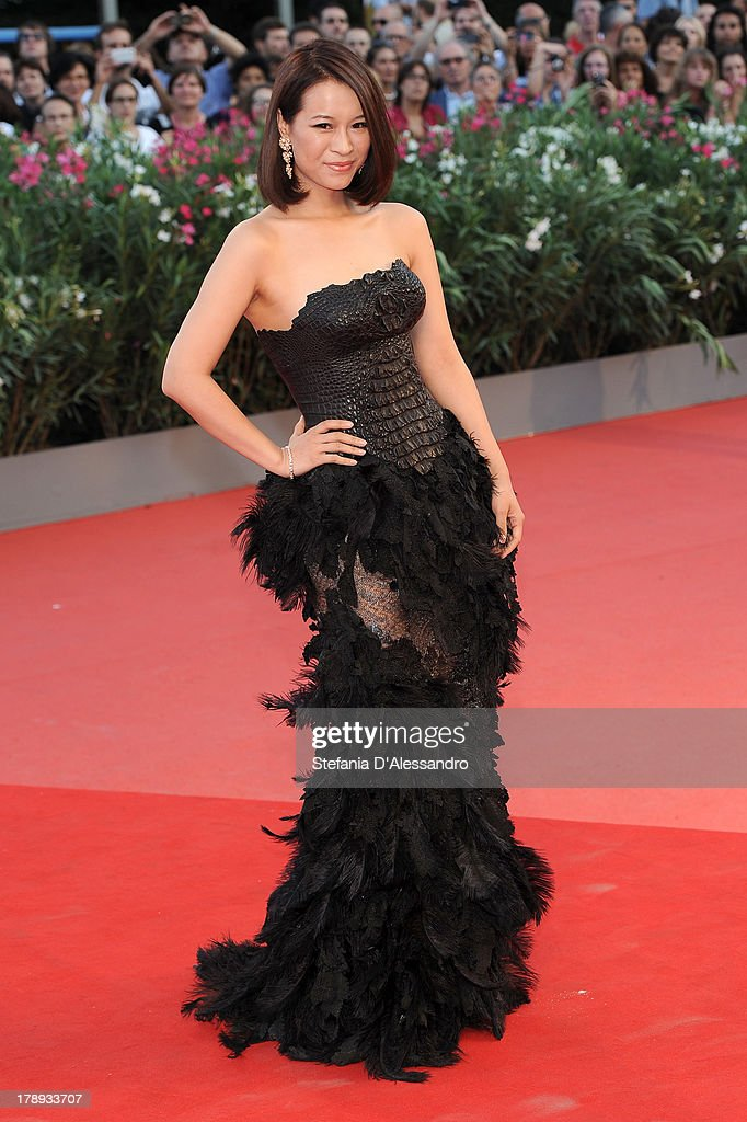 Actress He Wenchao attends 'Philomena' Premiere during the 70th Venice International Film Festival at Sala Grande on August 31, 2013 in Venice, Italy.