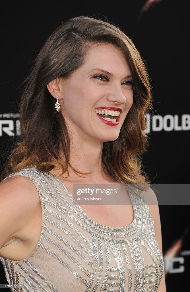 Actress <a gi-track='captionPersonalityLinkClicked' href=/galleries/search?phrase=Heather+Doerksen&family=editorial&specificpeople=11114704 ng-click='$event.stopPropagation()'>Heather Doerksen</a> arrives at the 'Pacific Rim' - Los Angeles Premiere at Dolby Theatre on July 9, 2013 in Hollywood, California.