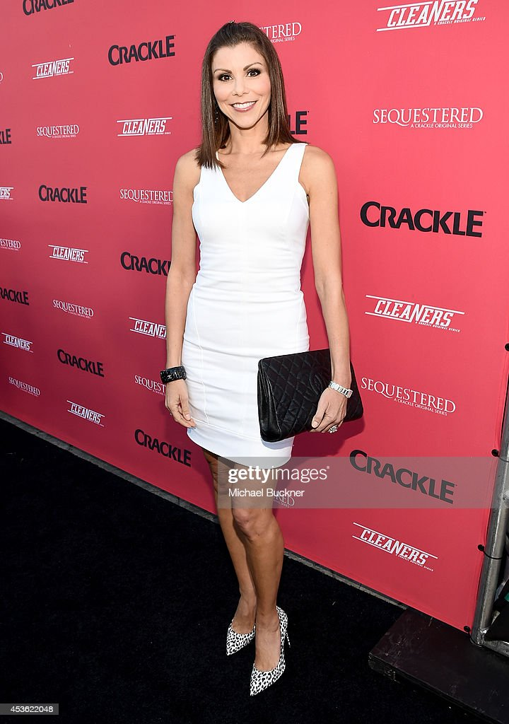 Actress Heather Dubrow attends Crackle Presents: Summer Premieres Event for originals, 'Sequestered' and 'Cleaners' at 1 OAK on August 14, 2014 in West Hollywood, California.