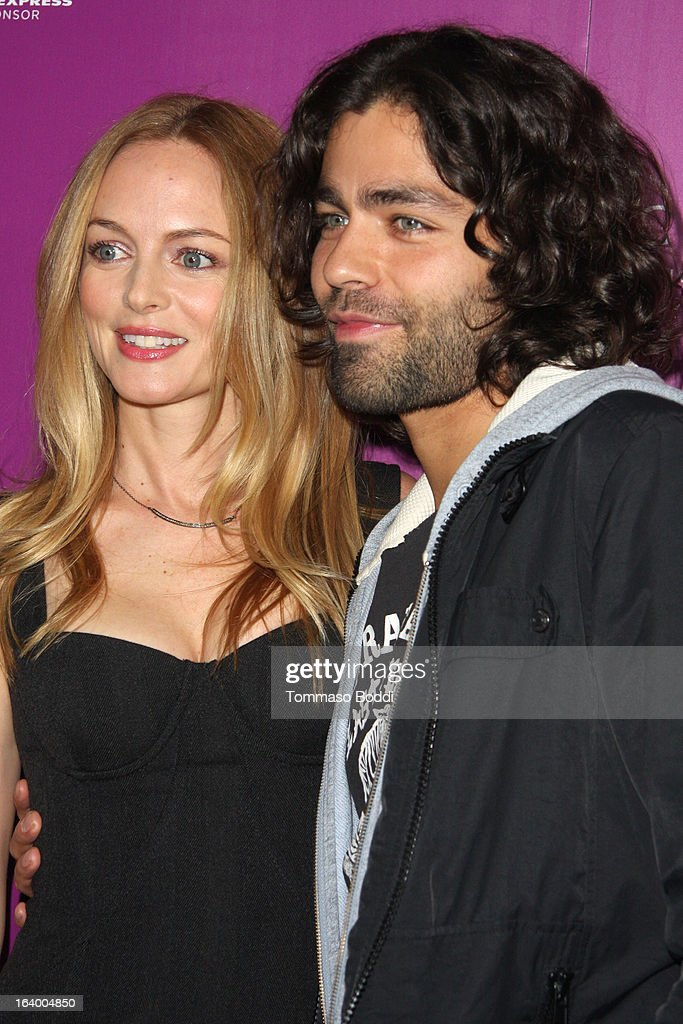 Actress Heather Graham (L) and actor Adrian Grenier attend the 5th annual Tribeca Film Festival 2013 LA reception held at The Beverly Hilton Hotel on March 18, 2013 in Beverly Hills, California.